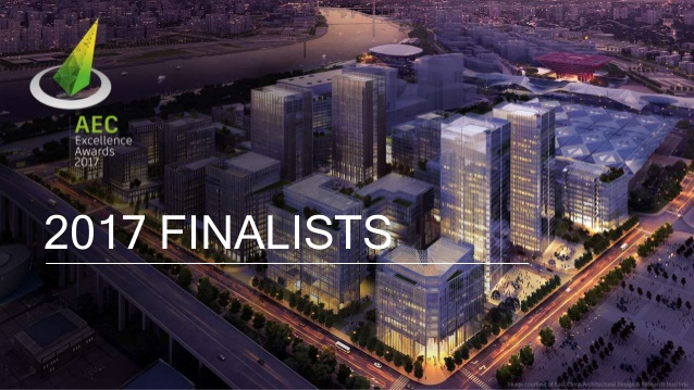 We're a AEC Excellence Awards Finalist